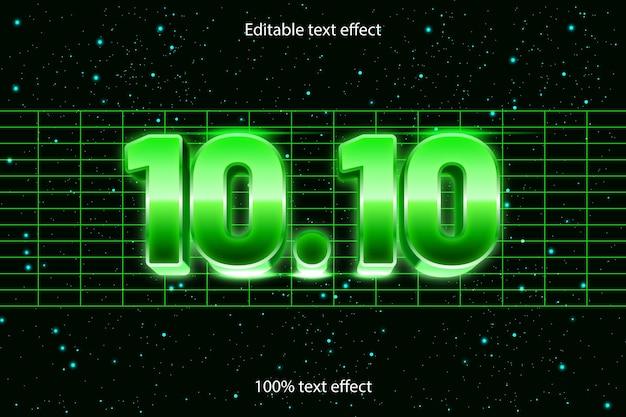10.10 edytowalny efekt tekstowy w stylu retro