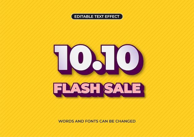 10.10 promocja baneru sprzedaży flash, edytowalny efekt tekstowy