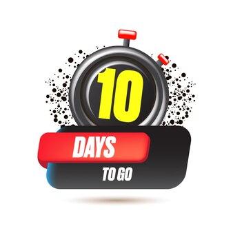 10 dni, aby przejść szablon projektu banera