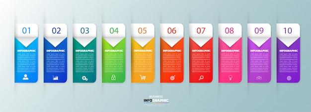 10 kroków infographic szablon