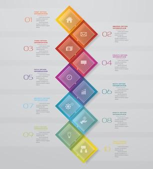 10-stopniowa mapa prezentacji. mi