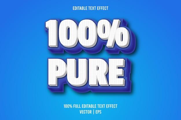 100% czysty edytowalny styl komiksowy z efektem tekstowym