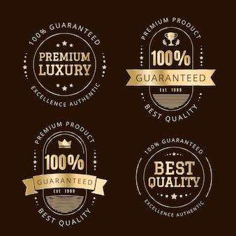 100% gwarancji kolekcji odznak / etykiet