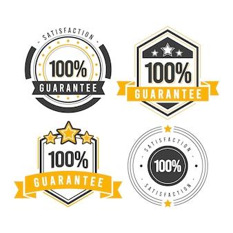 100% kolekcja etykiet gwarancyjnych
