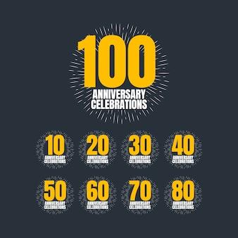 100 lat obchody rocznicy wektor ilustracja szablon projektu