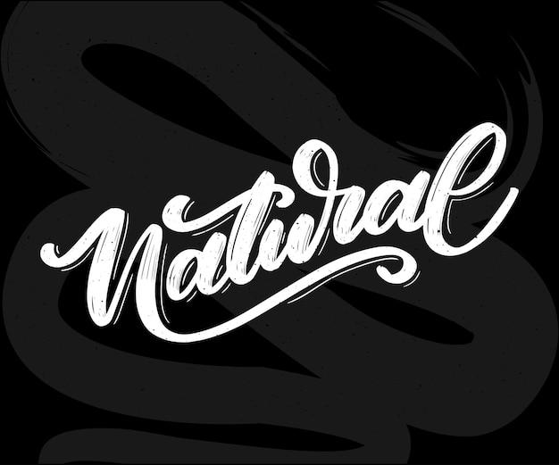 100 naturalny wektor napis pieczęć ilustracja slogan kaligrafiagraph