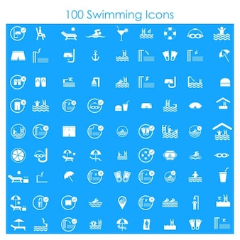 100 pływackie ikony