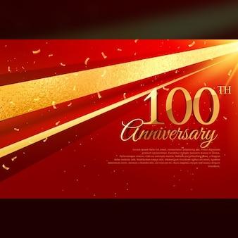 100. rocznica uroczystość karty szablonu
