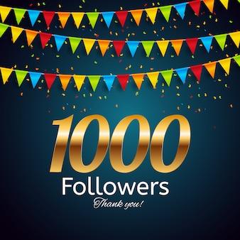 1000 obserwujących. dziękuję ci. tło