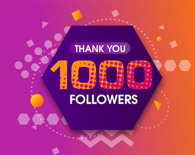 1000 zwolenników dziękuję