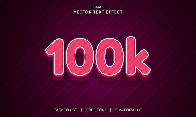 100k 3d plik wektorowy efektu tekstowego