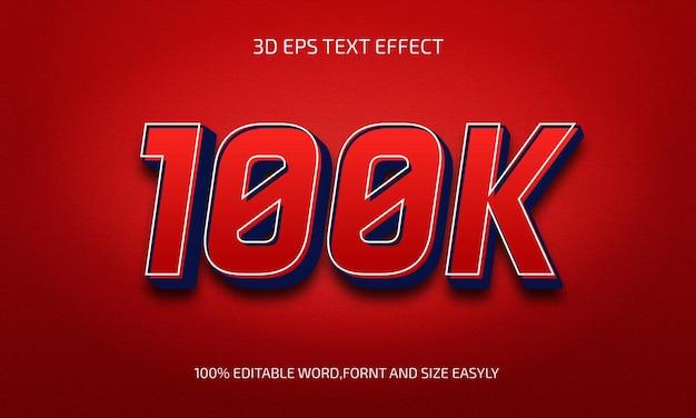 100k edytowalnego stylu efektu tekstu 3d