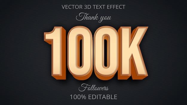 100k efekt tekstowy kreatywny projekt