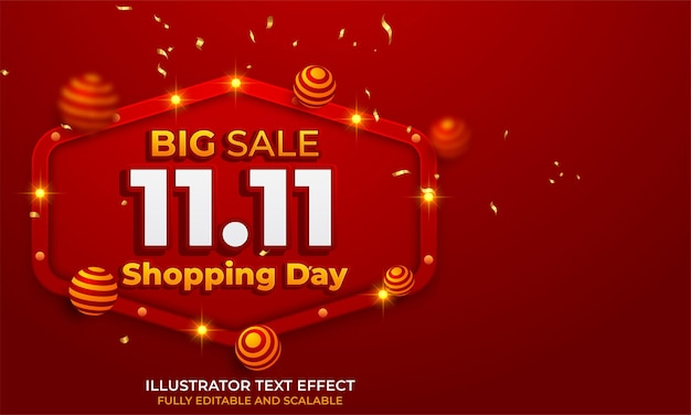 11.11 projekt plakatu lub ulotki sprzedaży online