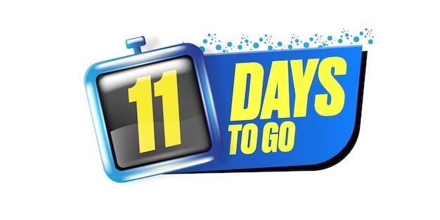11 dni, aby przejść szablon projektu banera
