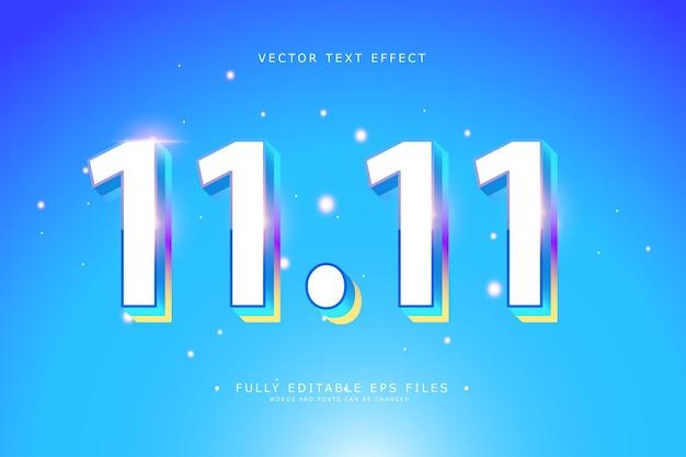 1111 dzień zakupów baner lub projekt ulotki