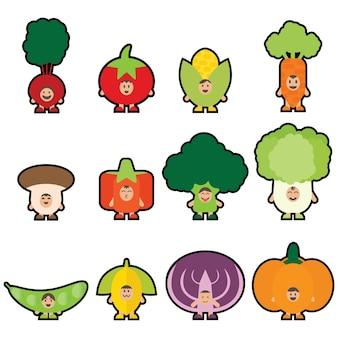 12 maskotka Veggies
