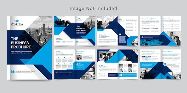 12-stronicowy Projekt Broszury Korporacyjnej Lub Szablon Profilu Firmy. Premium Wektorów