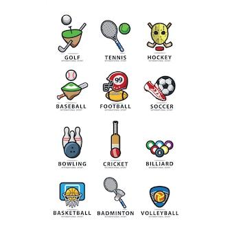 12 wektor logo sportu