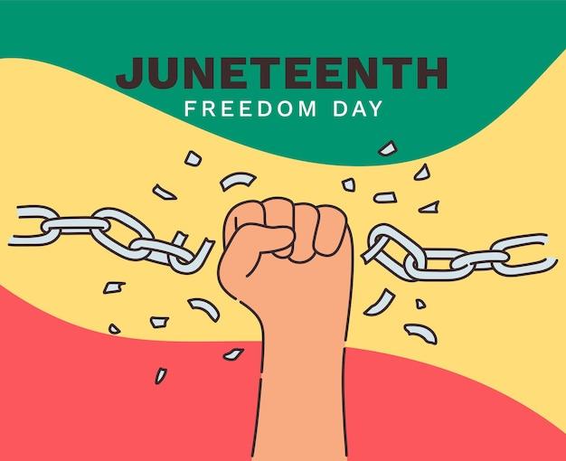 13 czerwca dzień niepodległości, dzień wolności. coroczne amerykańskie święto obchodzone 19 czerwca. historia i dziedzictwo afroamerykanów.