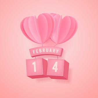 14 lutego, festiwal walentynkowy i różowy balon serca