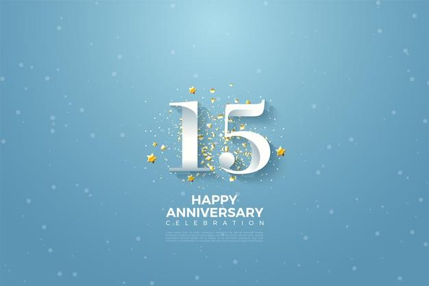 15 rocznica tło z ilustracji postaci nieba