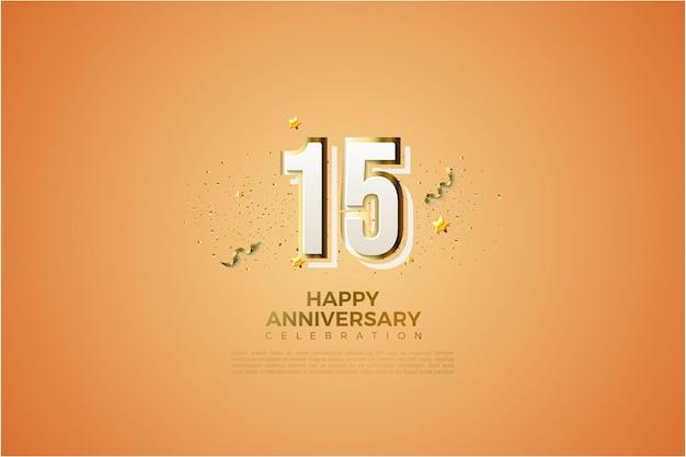 15 rocznica tło z liczbami graphity.