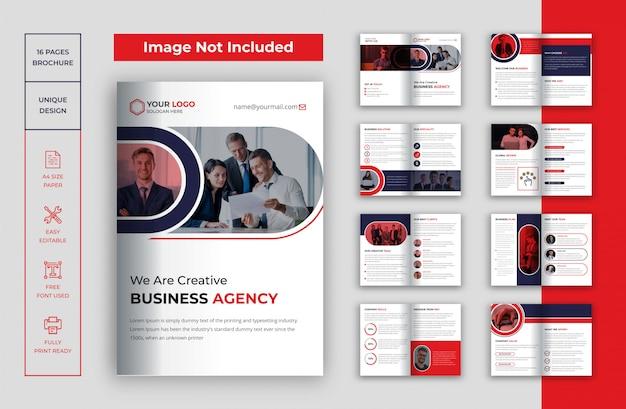 16 stron broszury z profilem firmy