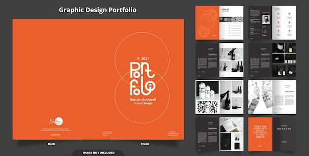 16 stron minimalistycznego projektu portfolio