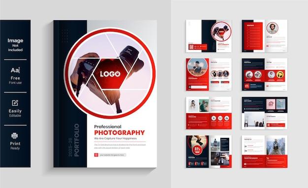 16 stron szablon projektu broszury fotograficznej kolorowy i nowoczesny układ