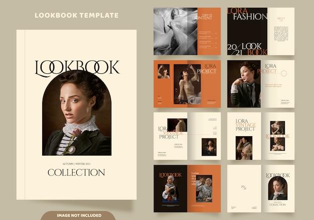 16 stron szablonu lookbooka mody