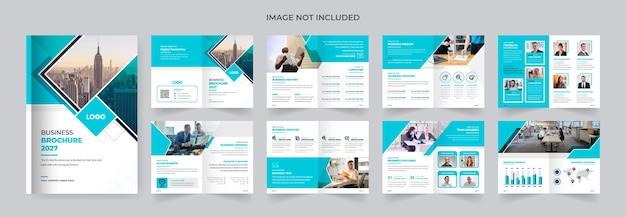 16 stron zielony kolor firmy broszura biznesowa projekt nowoczesny i kreatywny szablon