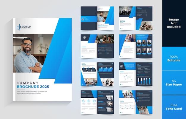 16-stronicowa broszura lub projekt profilu firmy