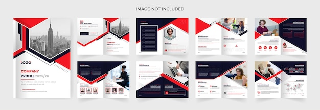 16-stronicowy szablon broszury biznesowej