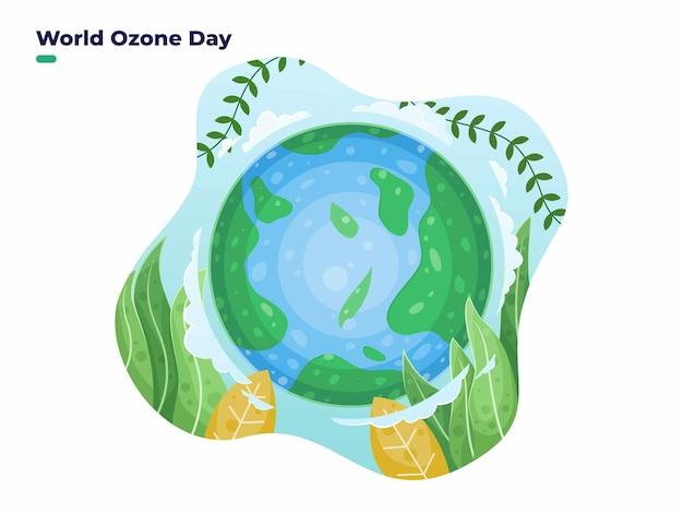 16 września międzynarodowy dzień ochrony warstwy ozonowej lub ilustracja światowego dnia ozonu