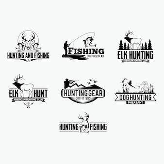 16 znaczków myśliwskich i logotypów