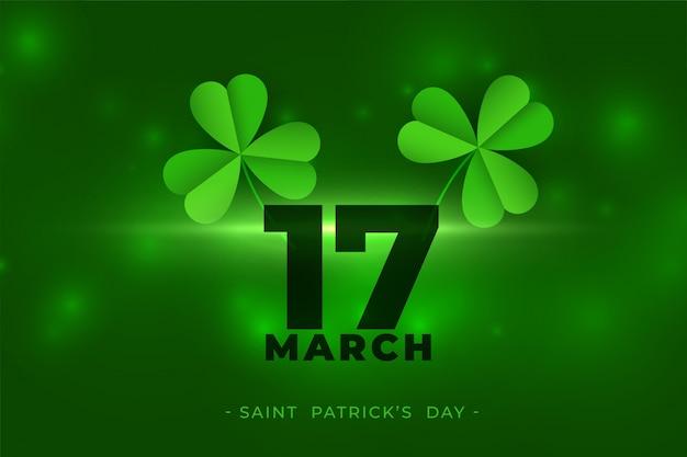17 marca szczęśliwy dzień świętego patryka tło