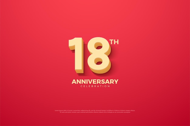 18 rocznica z animowaną ilustracją liczb