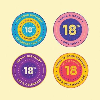 18 urodziny odznaki