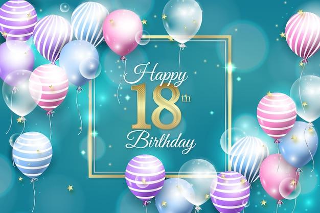 18 urodziny realistyczny styl