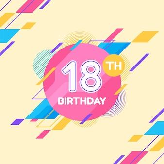 18 urodziny szczęśliwy tło
