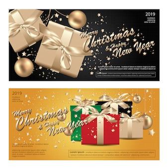 2 banner wesołych świąt