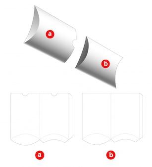 2 sztuki opakowania na poduszki wycinane szablonem