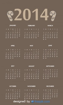 2014 kalendarz z cukierkami nagłówka