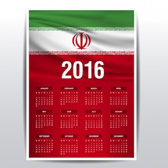2016 kalendarz z iranu