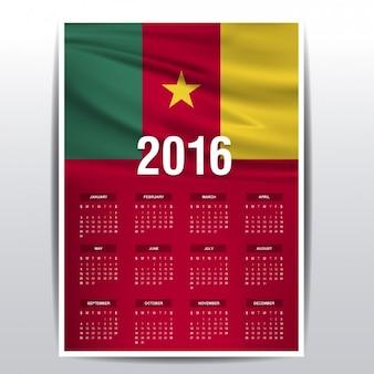2016 kalendarz z kamerunu