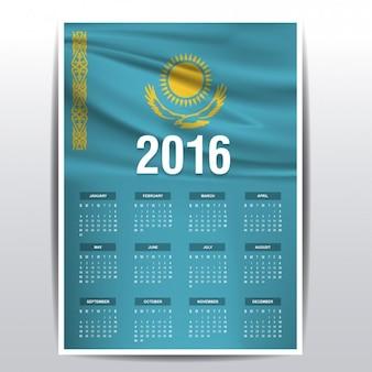 2016 kalendarz z kazachstanu