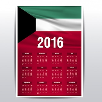 2016 kalendarz z kuwejtu