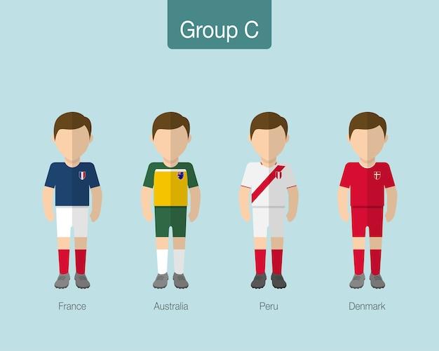 2018 drużyna piłkarska lub drużyna piłki nożnej.