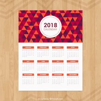 2018 kalendarz trójkątów